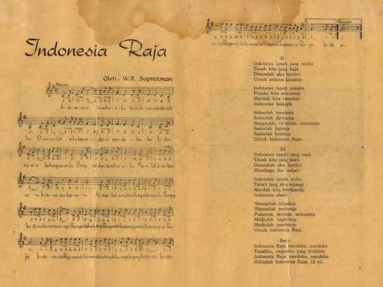 naskah asli Indonesia Raya